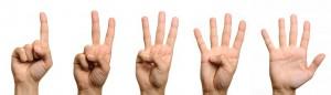 1-2-3-4-5-fingers