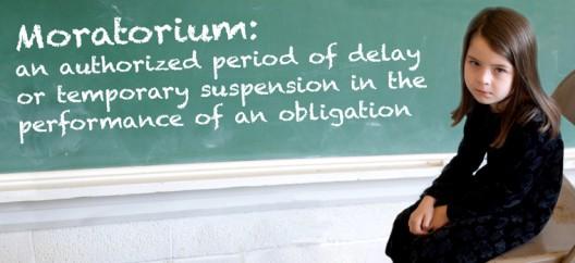 Image result for moratorium definition