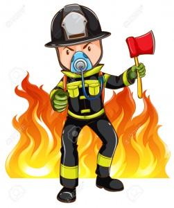 A brave fireman