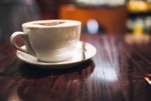 Coffee was mundane but the talk, extraordinary.
