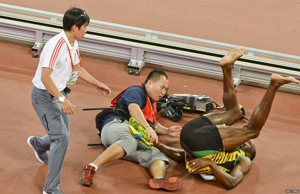 You can't stop Bolt unless you hit him with a Segway.