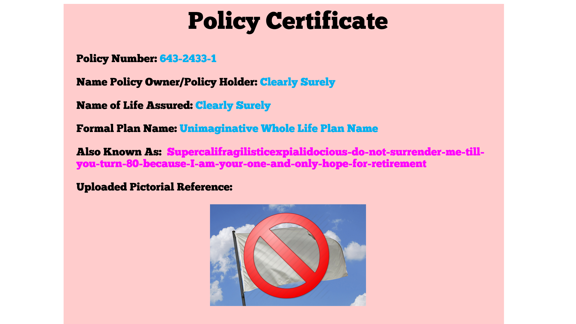 Policy Certificate Final2